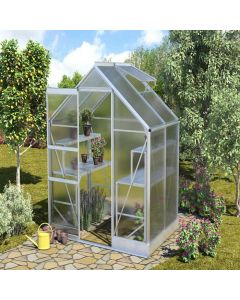 "Vitavia Apollo Greenhouse - 6'4"" wide - Horticultural or Toughened Glass"
