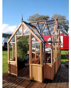 "Alton Cambridge Cedarwood Victorian Greenhouse 9'11"" (3007mm) wide"