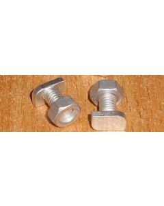 Greenhouse Crop Head Nuts And Bolts 22mm long Pkt 15