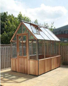 "Alton Denstone Cedarwood Victorian Greenhouse 6' 2"" Wide"