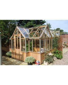 "Alton Durham Cedarwood Victorian Greenhouse 7' 5"" Wide"