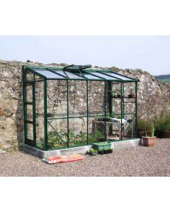 Kensington 4 Lean-To  Coloured Finish Horticultural Glass
