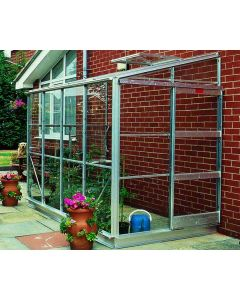 Kensington 4 Lean-To  Alloy Finish Horticultural Glass