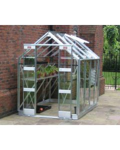 Elite greenhouses Streamline in alloy finish.