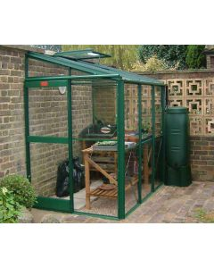 "A lower ridge height of 6' 7"", ideal for attachment to garages and sheds, is one of the main attractions of the Windsor making it a popular choice among gardeners."