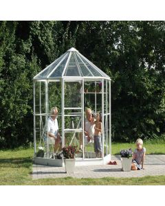 "Vitavia Hera 4500 Octagonal Greenhouse - 8'3"" wide - Horticultural or Toughened Glass"