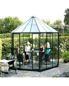 "Vitavia Hera 9000 Octagonal Greenhouse - 12'5"" wide - 4mm Float Glass + 6mm Polycarbonate Roof"