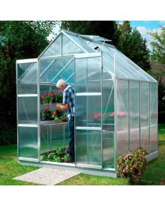 "Vitavia Jupiter 6700 Greenhouse - 8'4"" wide - Horticultural or Toughened Glass or Polycarbonate Glazing"