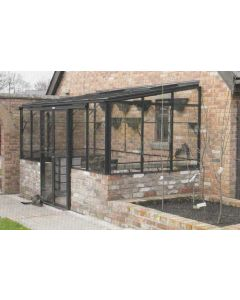 """Robinsons Lean-To Powder Coated Greenhouse 6'4"""" (1929mm) wide"""