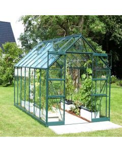"Vitavia Phoenix Greenhouse - 8'5"" wide - Horticultural or Toughened Glass & Polycarbonate Glazing"