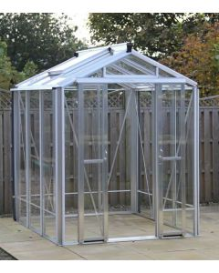 "Robinsons Silver Mill Finish Greenhouse 5'4"" (1662mm) wide"