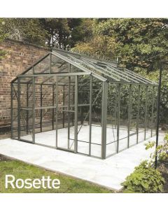 "Robinsons Rosette Powder Coated Greenhouse 10'7"" (3208mm) wide"