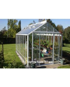 "Robinsons Rosette Silver Mill Finish Greenhouse 10'7"" (3208mm) wide"