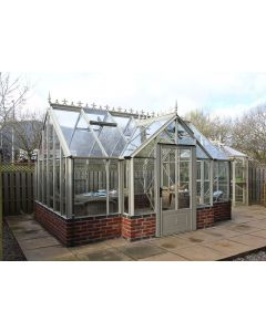 "Robinsons Victorian Rushby Dwarf Wall greenhouse 9'7"" deep"
