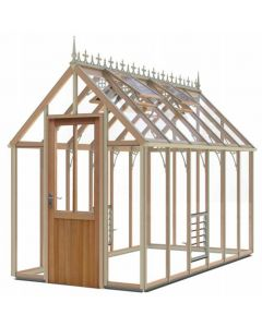 "Alton Smallwood Cedarwood Victorian Greenhouse 6' 2"" Wide"
