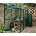 """A lower ridge height of 6' 7"""", ideal for attachment to garages and sheds, is one of the main attractions of the Windsor making it a popular choice among gardeners."""
