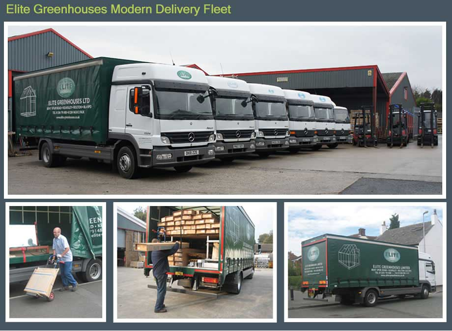 Elite Greenhouses Delivery Fleet
