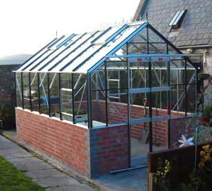 "Elite Featured Dwarf Wall Greenhouse 8'5"" wide"