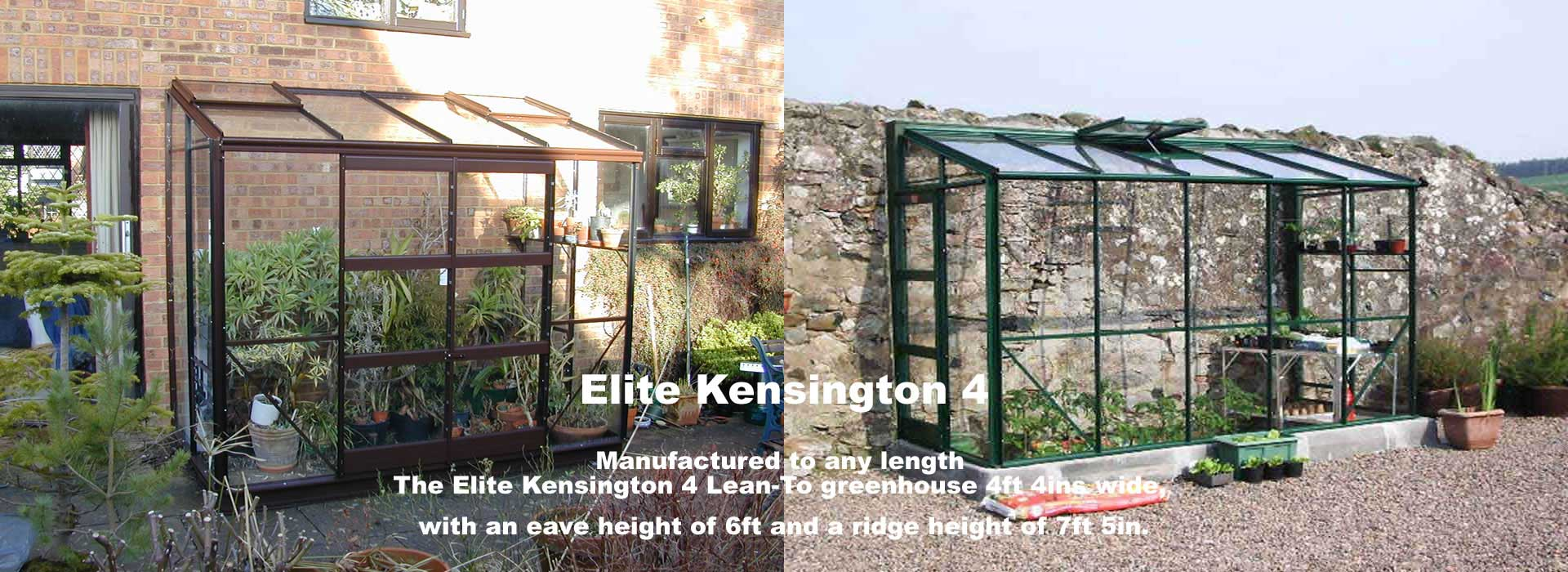 Elite Kensington 4 Lean-To Greenhouses