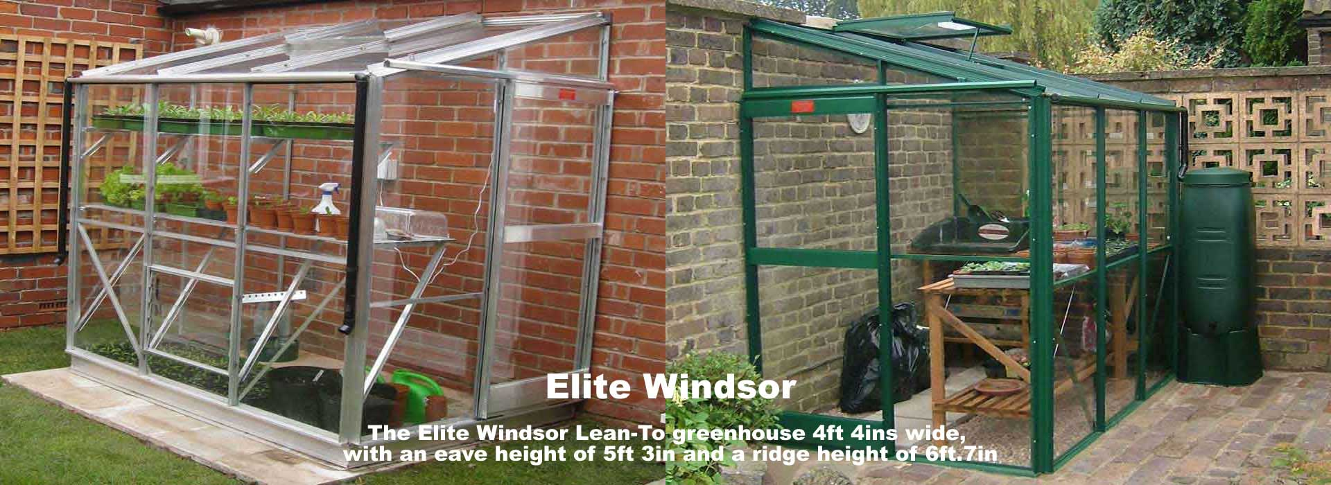 Elite Windsor Lean-To Greenhouses