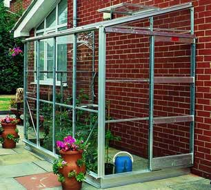 Elite Kensington 4 Lean-To Greenhouse
