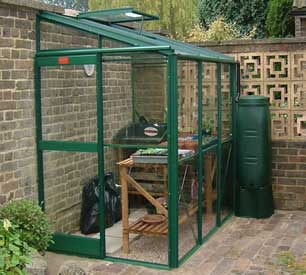 Elite Windsor Lean-To Greenhouse Package Deals.