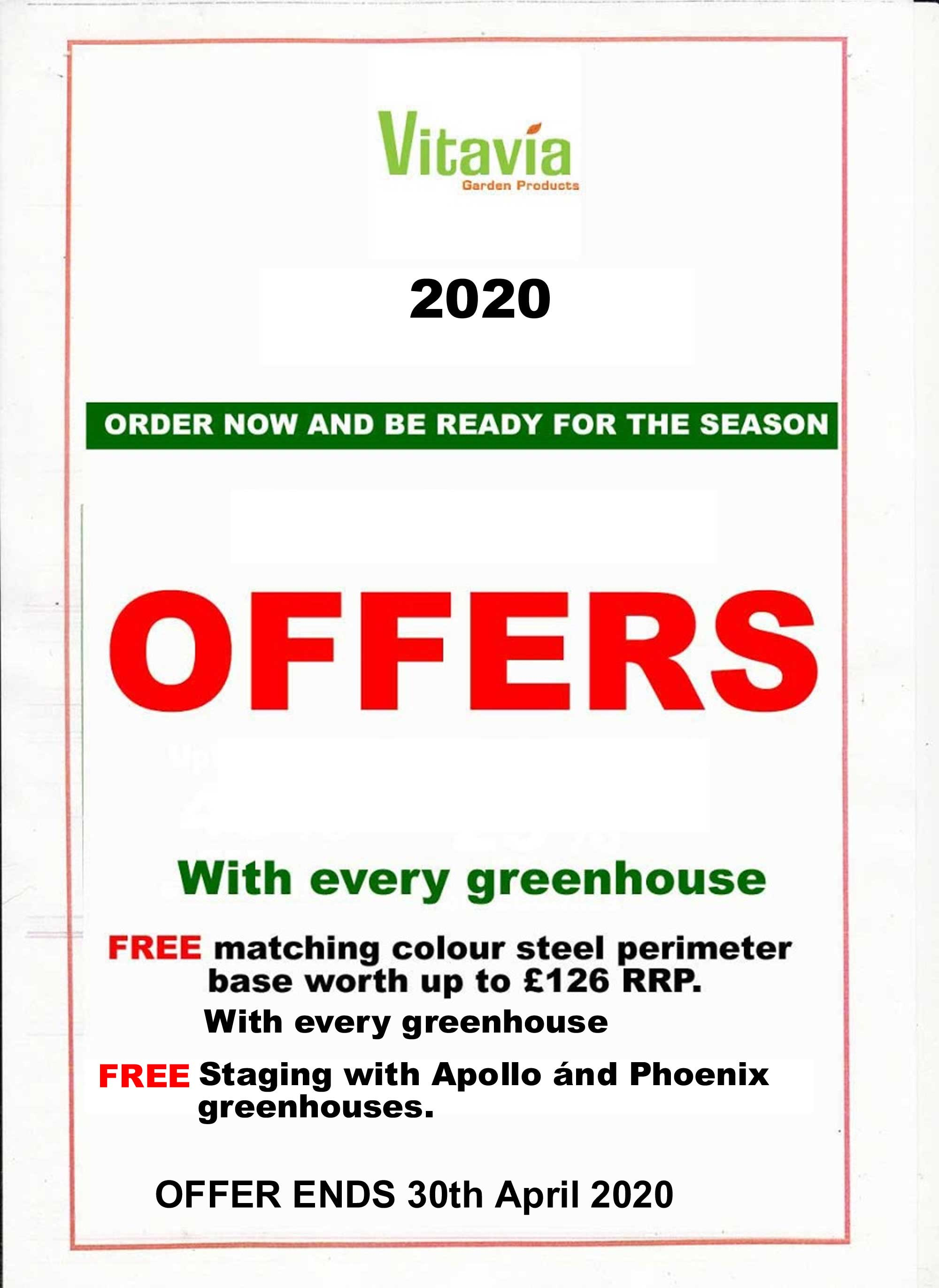 Vitavia Greenhouse Promotion