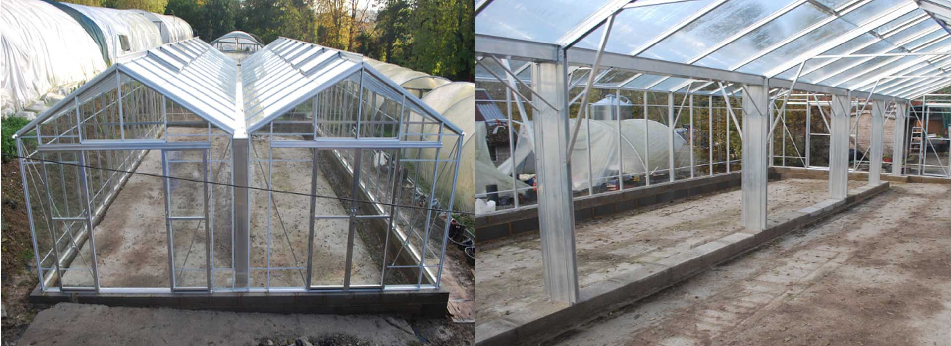 Robinsons Rosette Reach Double Span Greenhouses