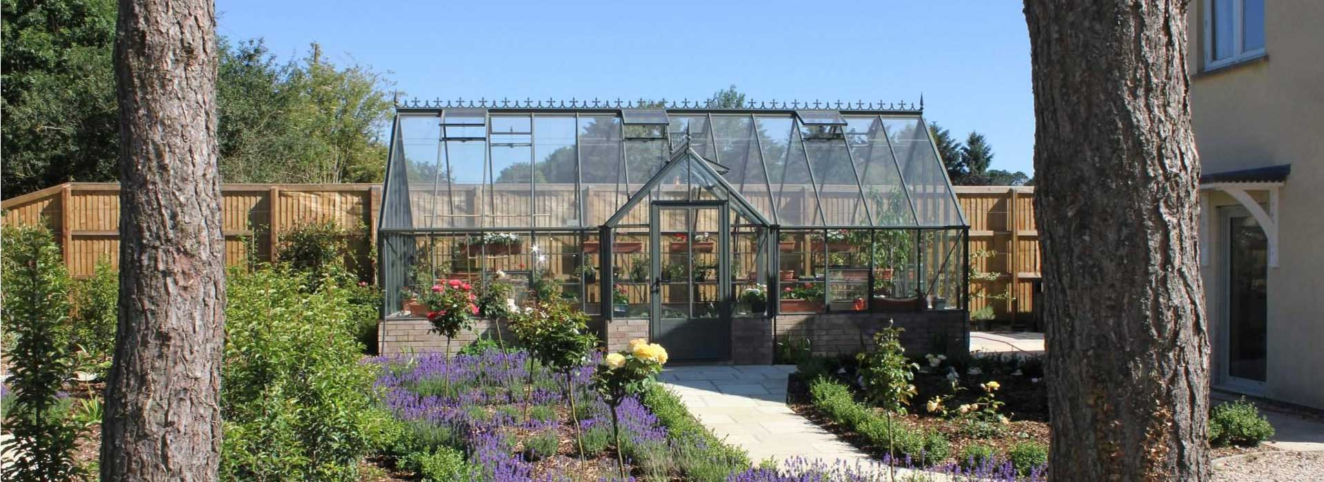 """Robinsons Rookely Dwarf Wall Greenhouses - 14'8"""" wide"""