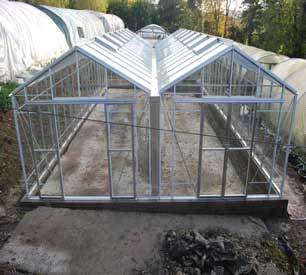 "Robinsons Rosette Reach Double Span Greenhouses- 21'9"" wide"