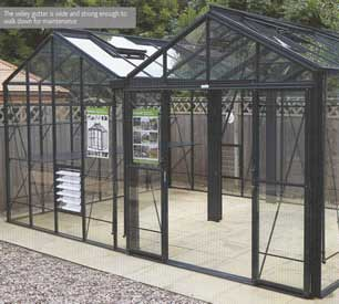 "Robinsons Royale Reach Double Span Greenhouses- 17'7"" wide"