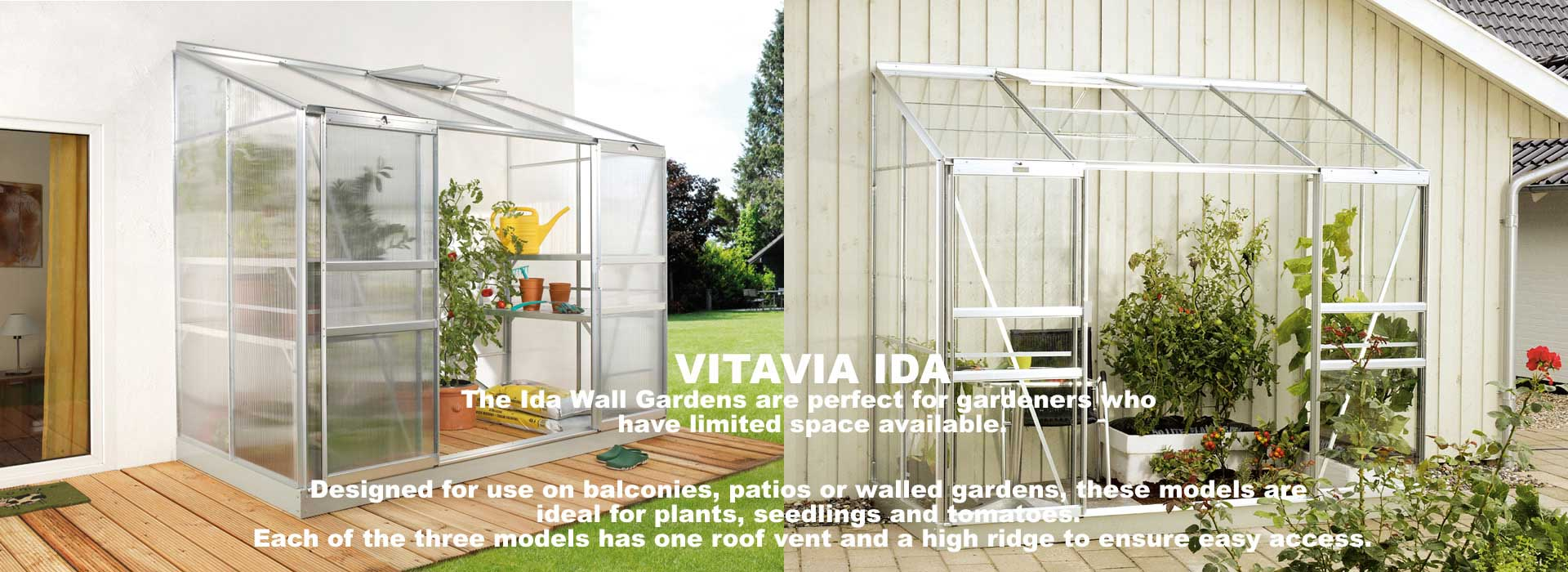 Vitavia Ida Lean-To Greenhouse