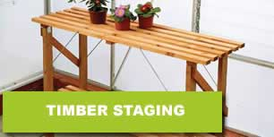 Greenhouse Timber Staging
